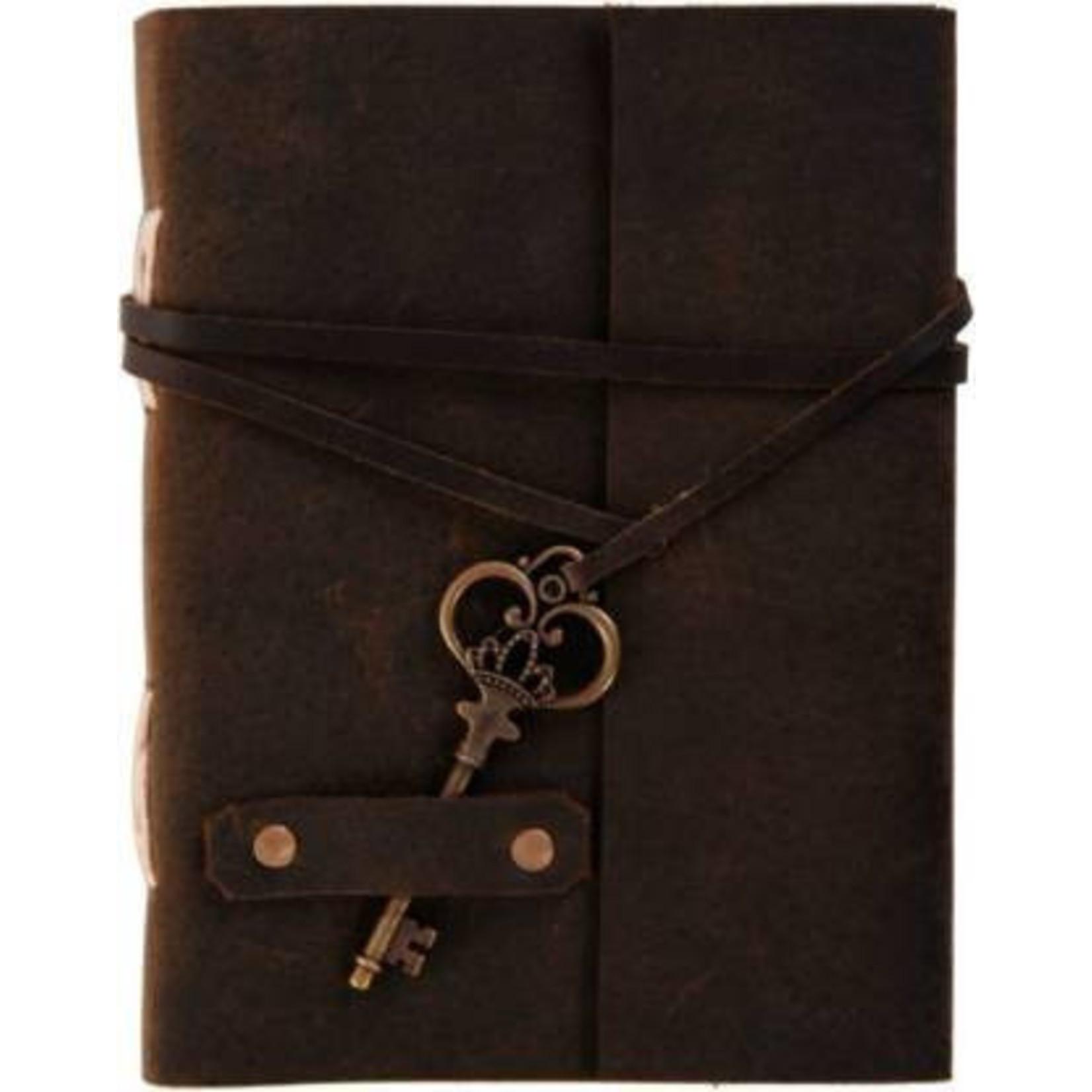 Blue Rickshaw Leather Journal w/ Key