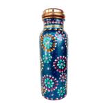 Blue Rickshaw Hand Painted Copper Water Bottle