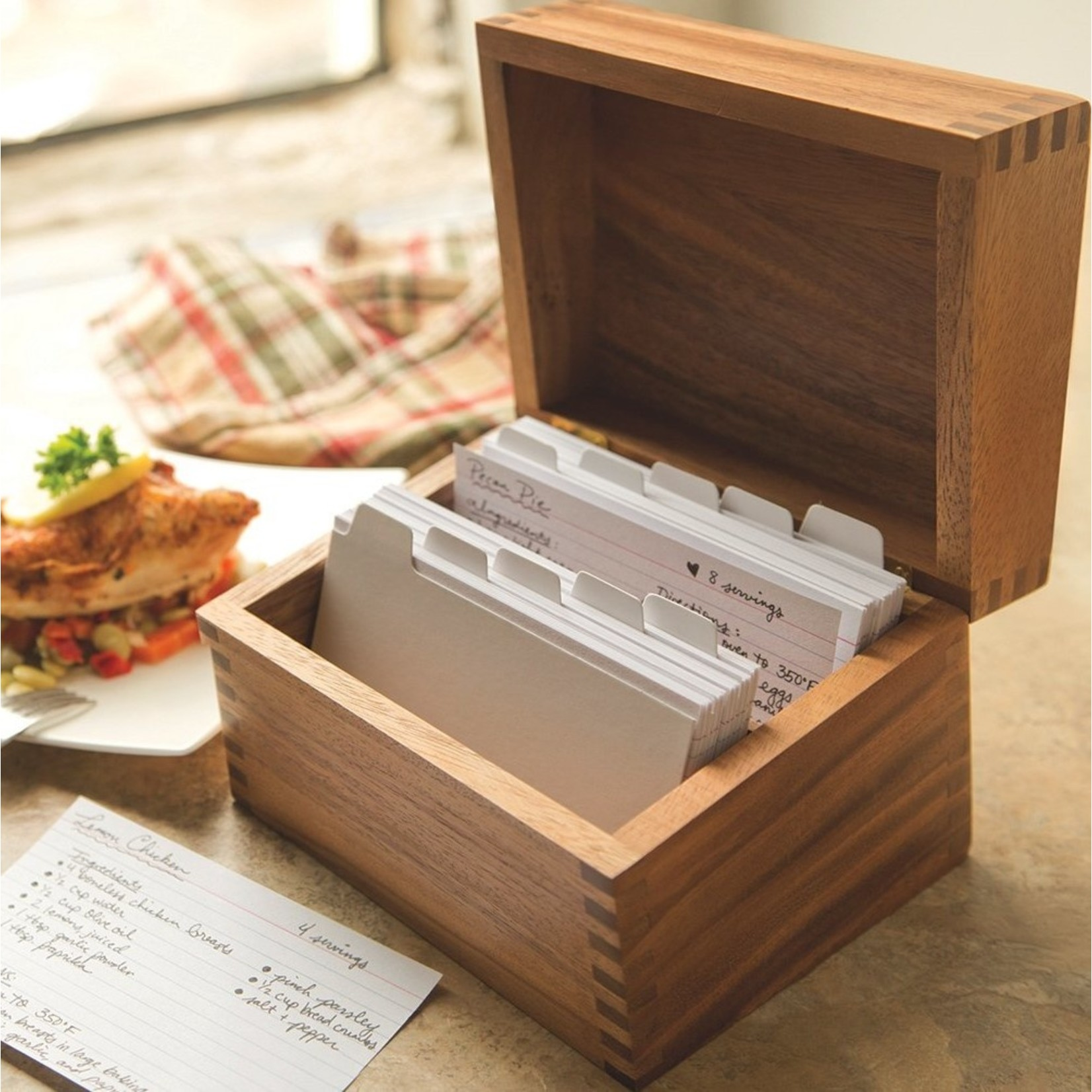 Ironwood Recipe Box with Cards