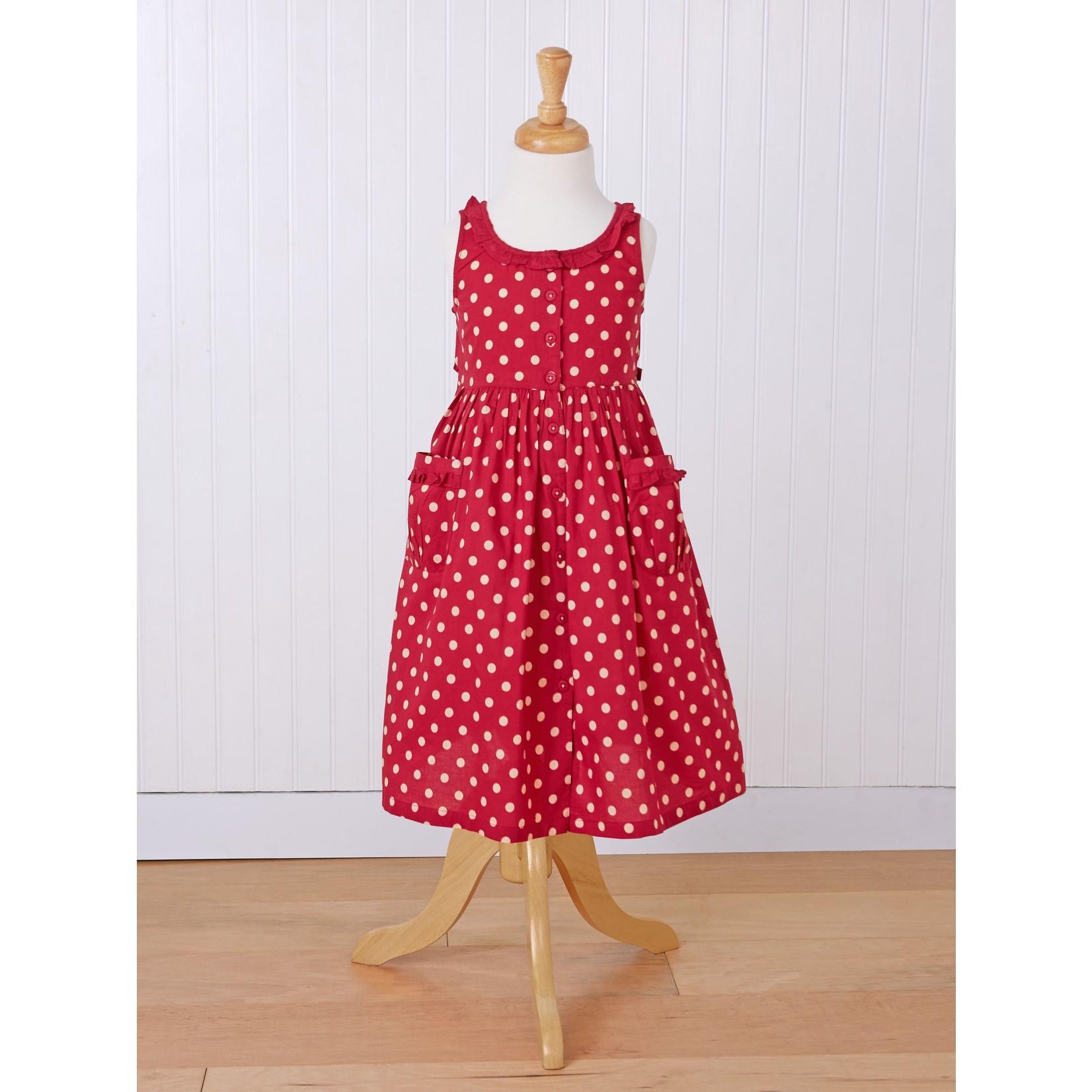 April Cornell Molly Dot Girls Cambric Dress