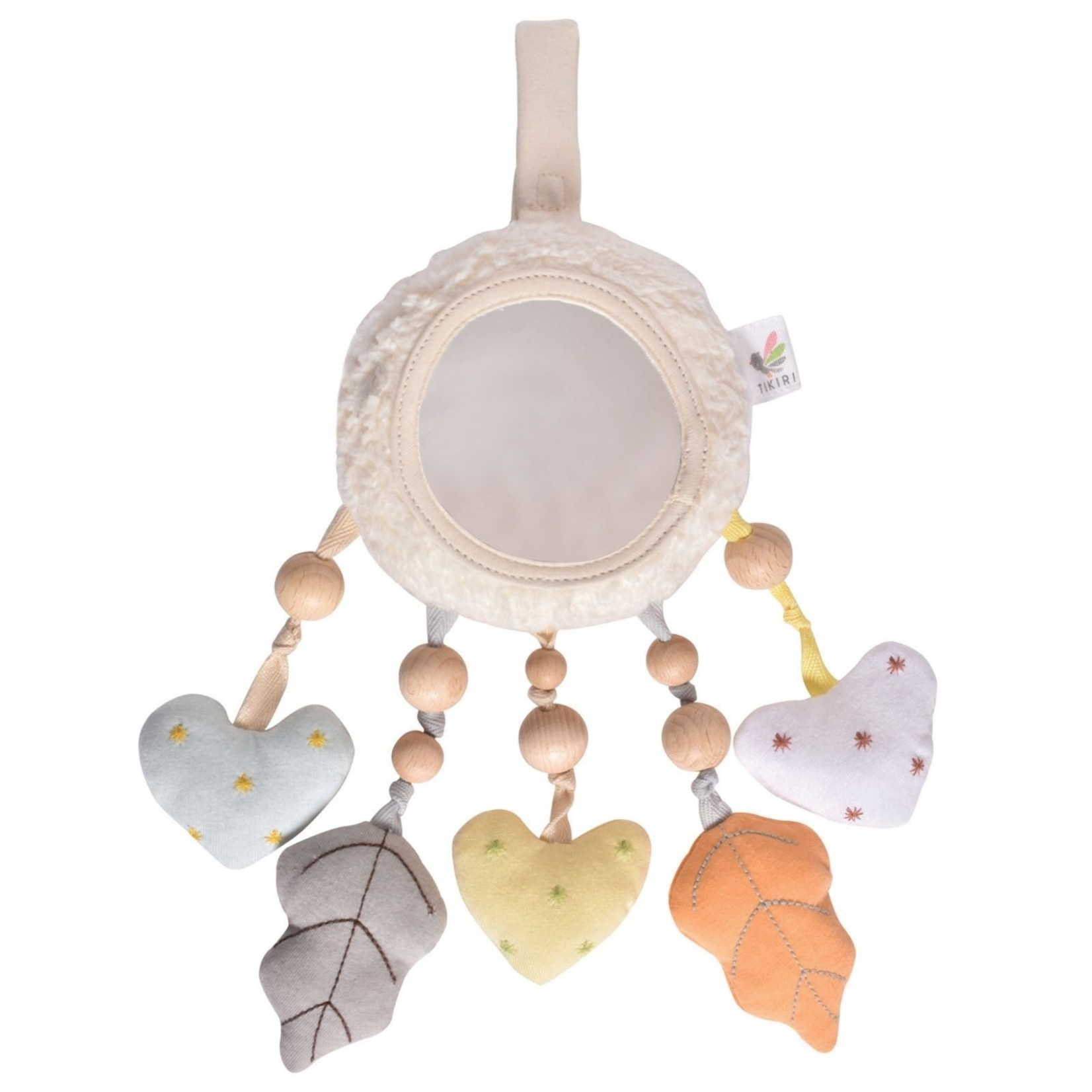 Tikiri Collection Bahbah The Lamb Baby Mobile With Fabric Hearts