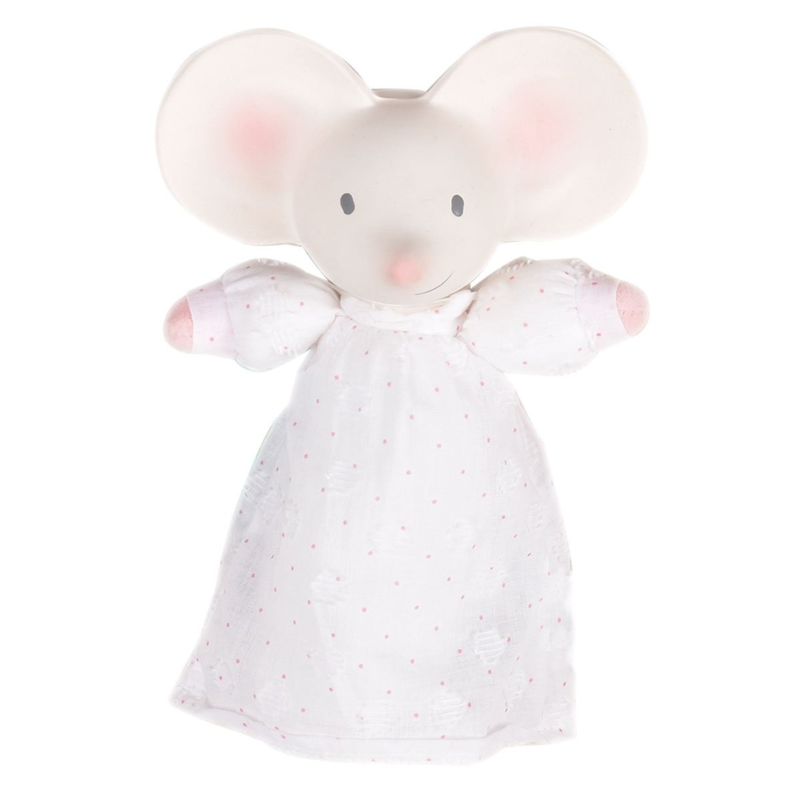 Tikiri Collection Meiya The Mouse Soft Squeaker Toy with Natural Rubber Head