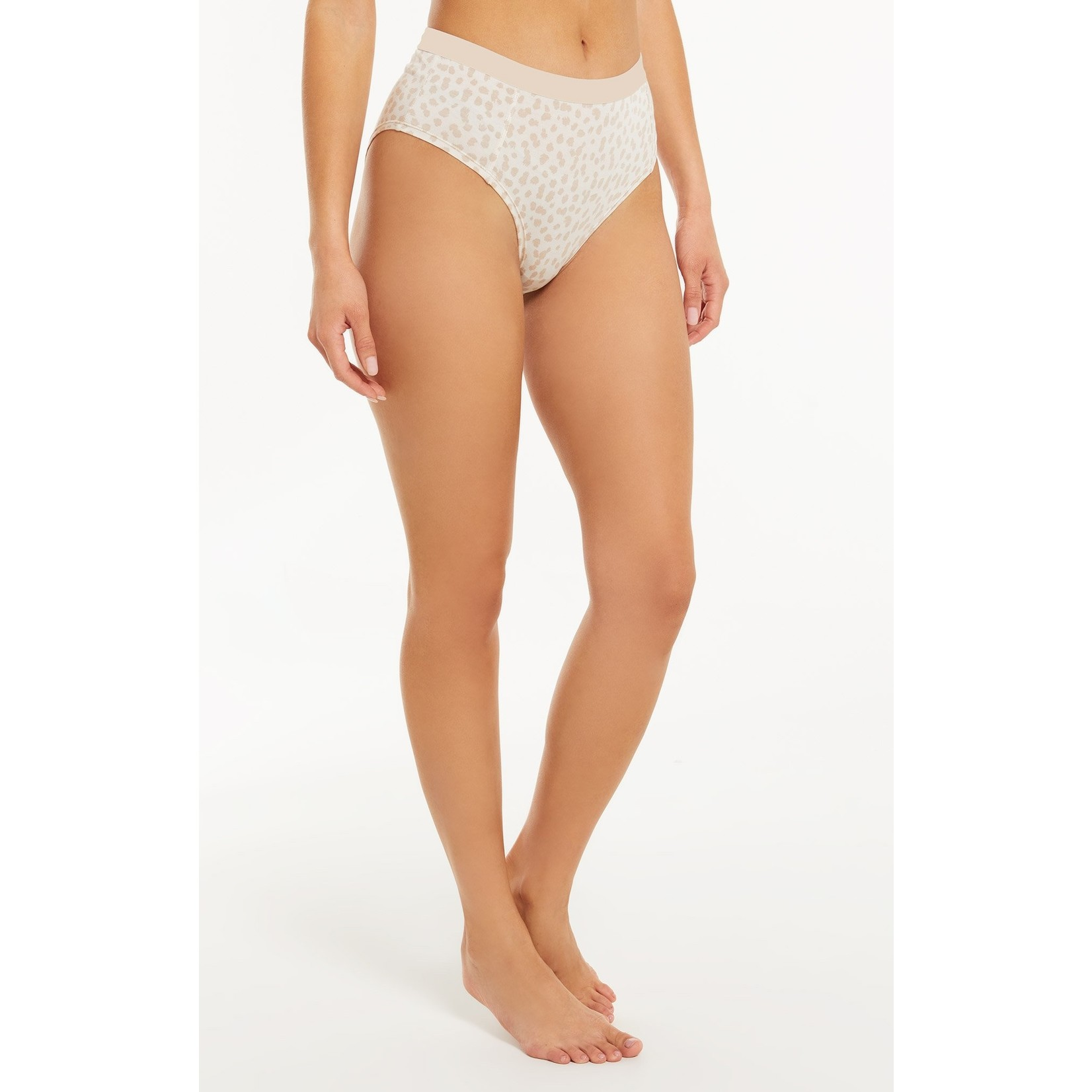 Z Supply Cheeky Leopard High Waisted Brief