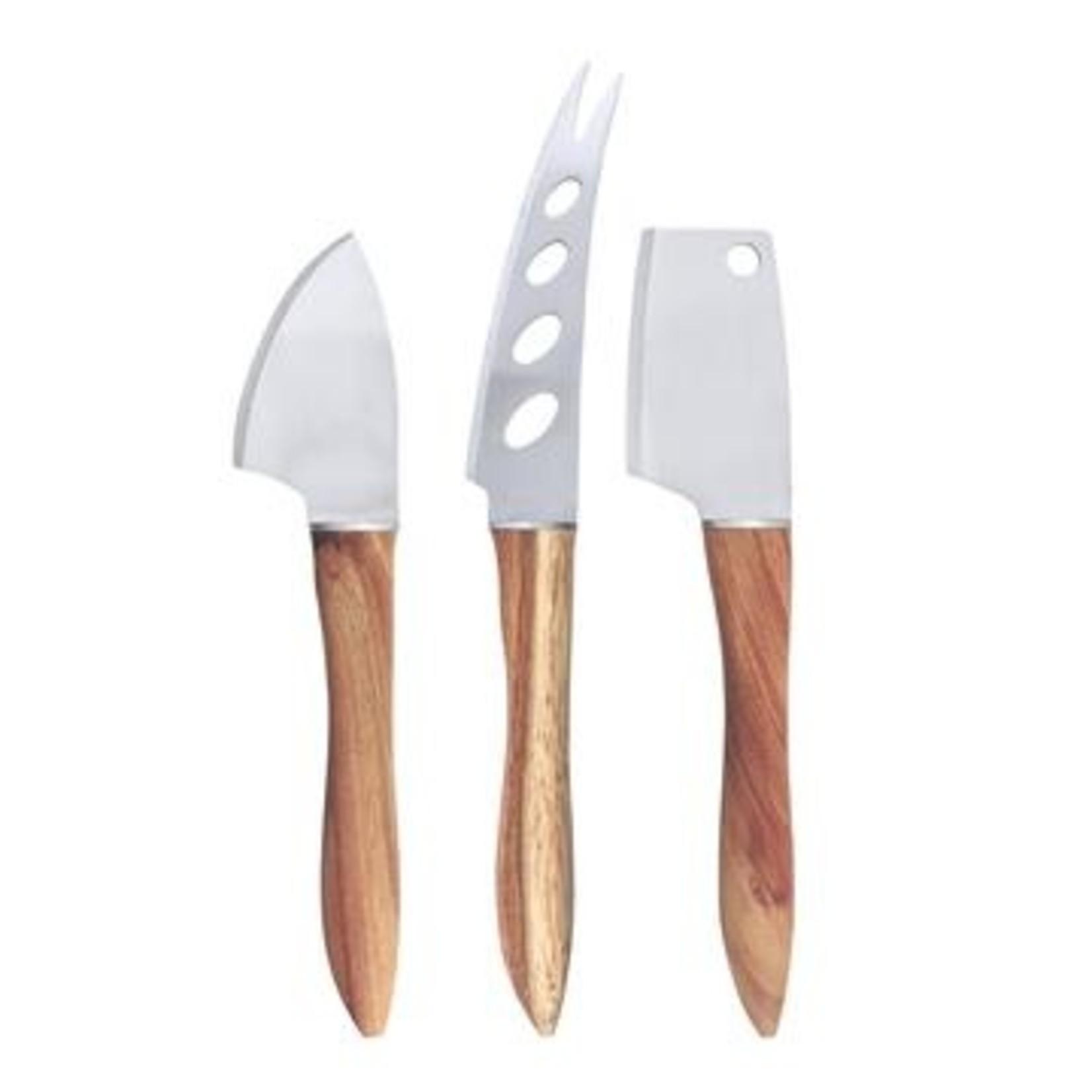 Swissmar 3 Piece Acacia Cheese Knife Set