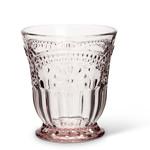 Abbott Pink Flower Glass Tumbler