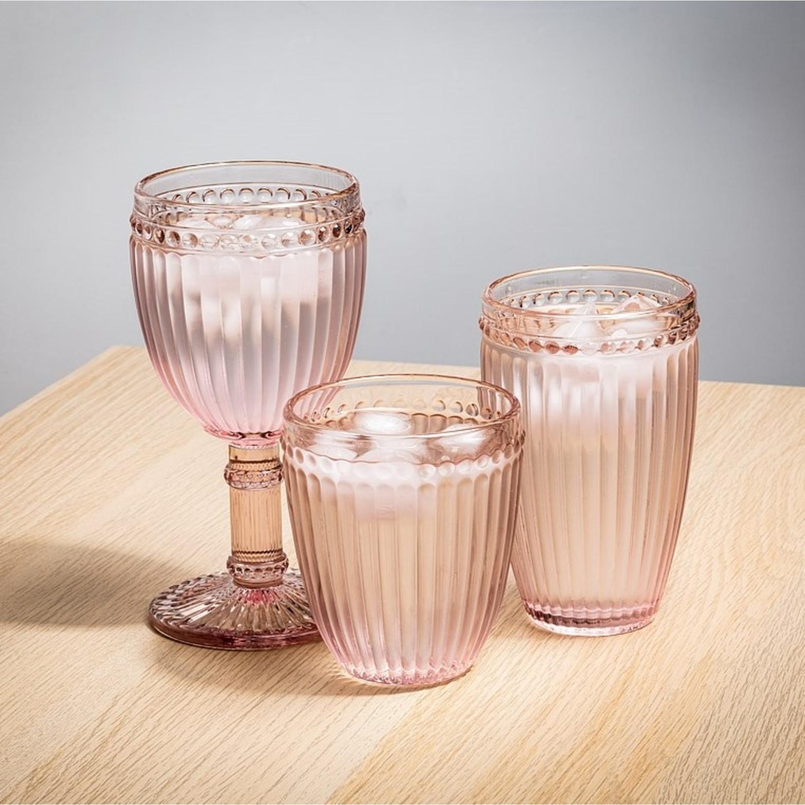 Abbott Dot & Panel Pink Glass Tumbler
