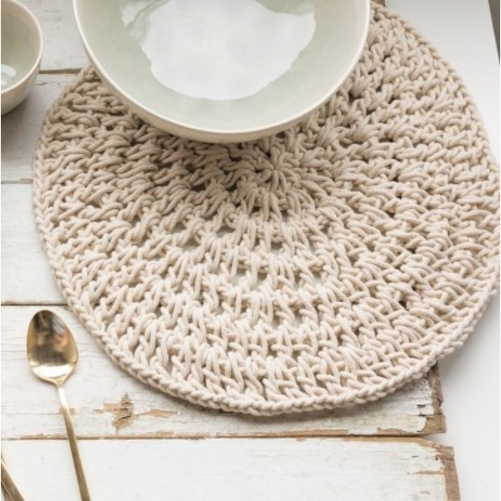 Heirloom Natural Knotted Placemat
