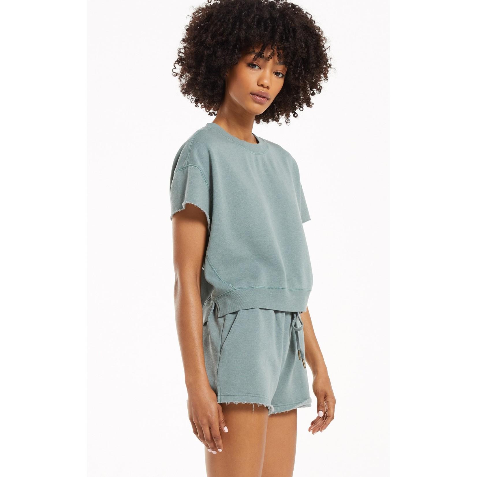 Z Supply Adah Fleece Short Sleeve Top