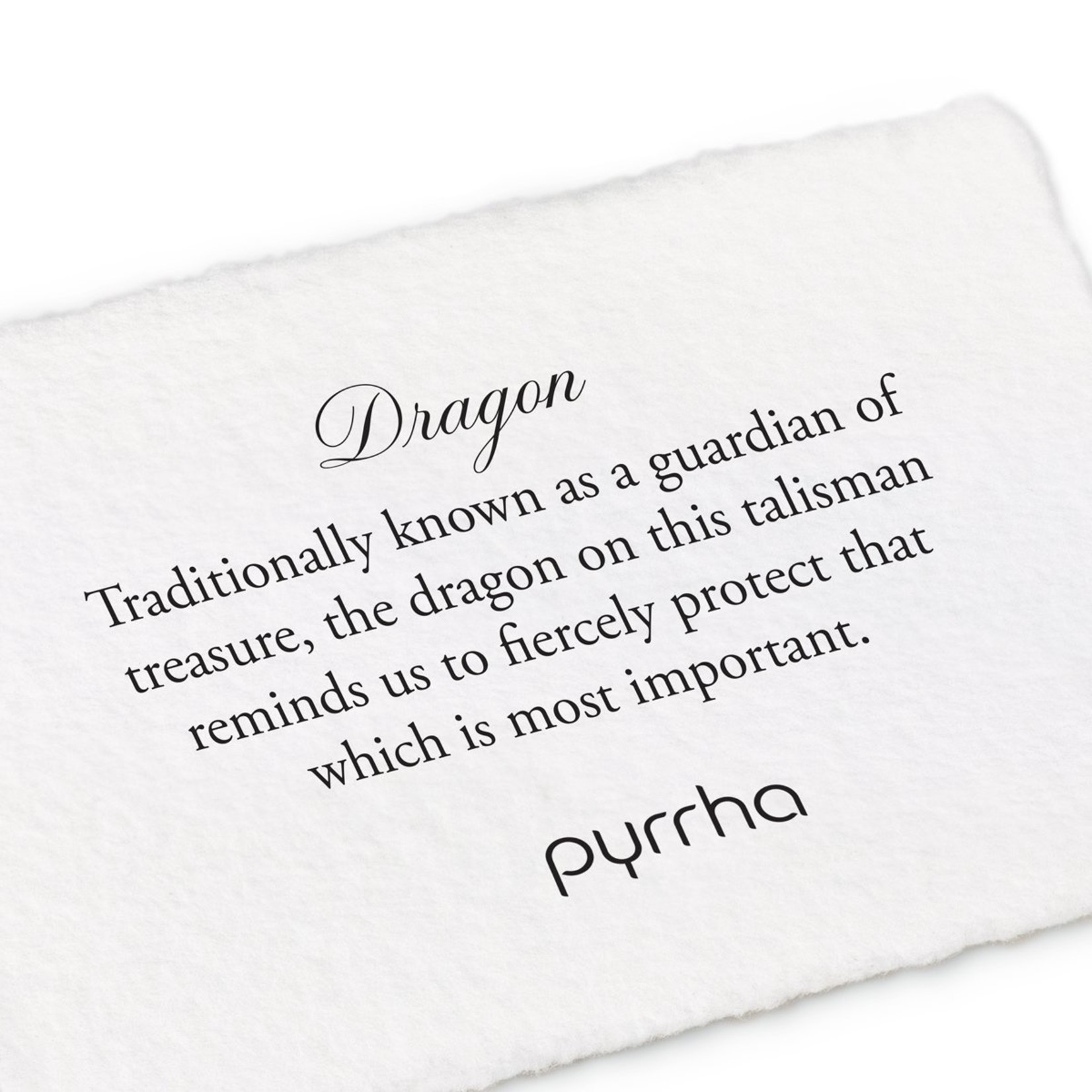 Pyrrha Dragon Signature Talisman