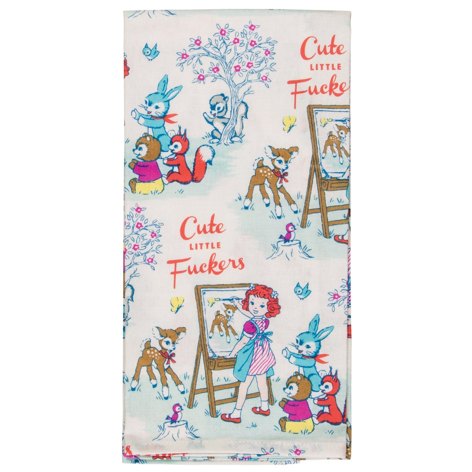 Blue Q Cute Little F*ckers Dish Towel