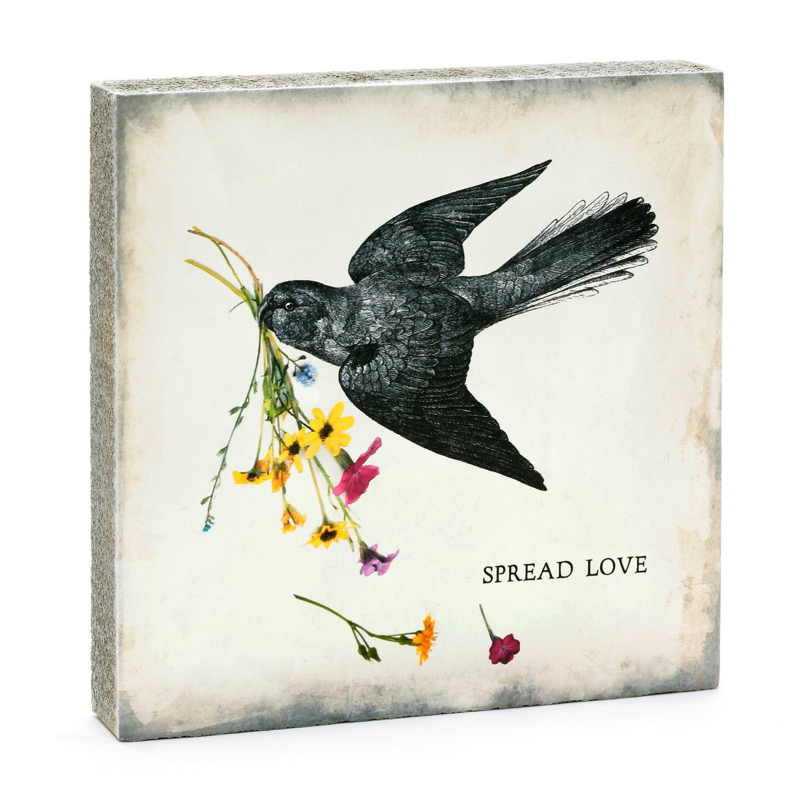 Cedar Mountain Spread Love Art Block