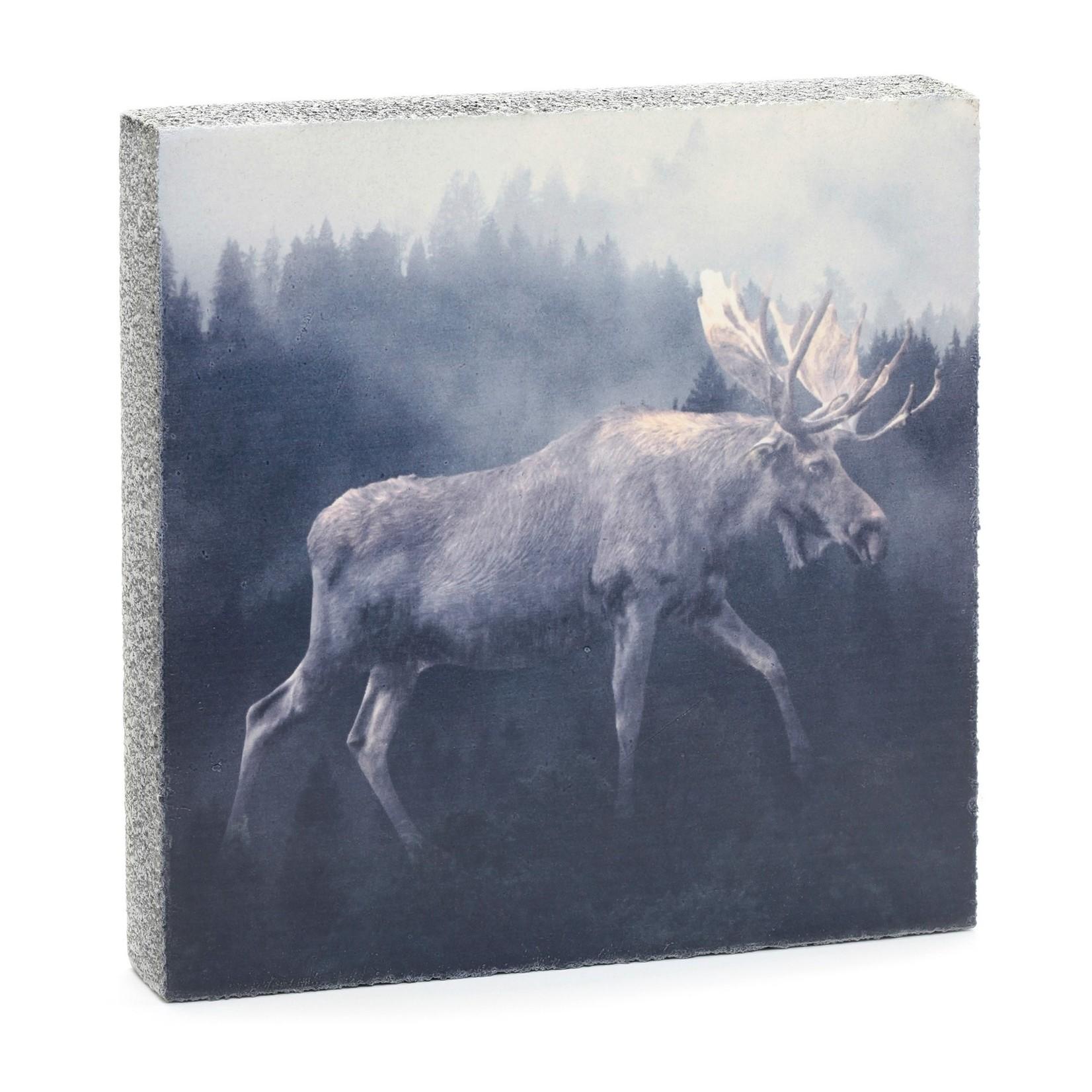 Cedar Mountain Forest Moose Art Block
