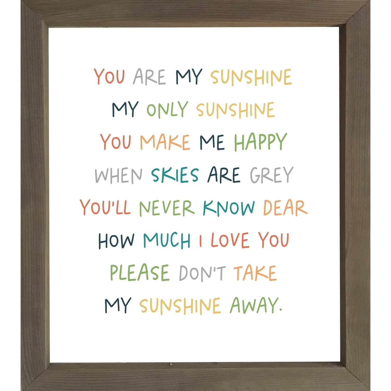 Cedar Mountain You Are My Sunshine Framed Words