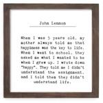 Cedar Mountain Understand Life Framed Words