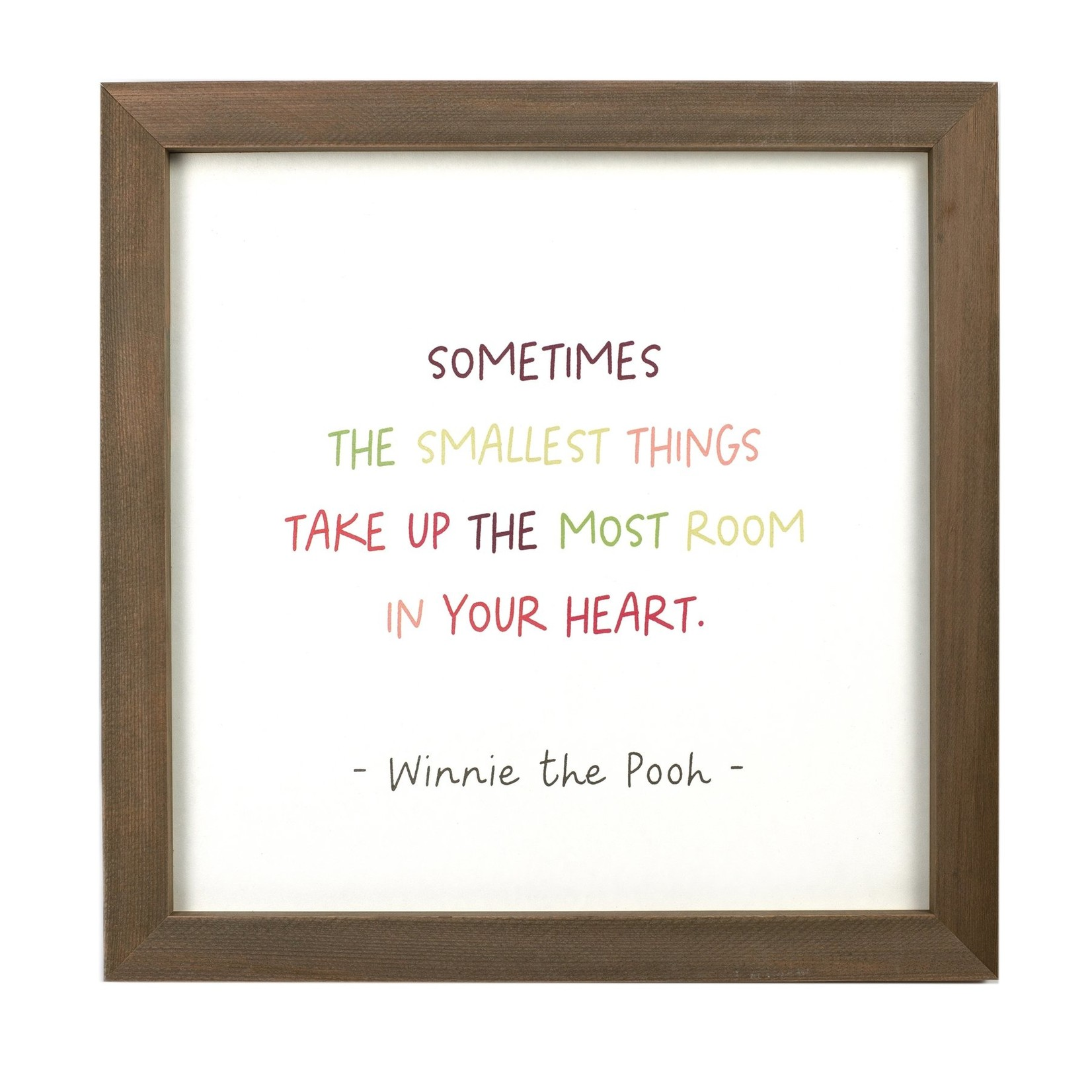 Cedar Mountain Smallest Things (Winnie the Pooh) Framed Words