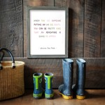 Cedar Mountain Big Boots Framed Words