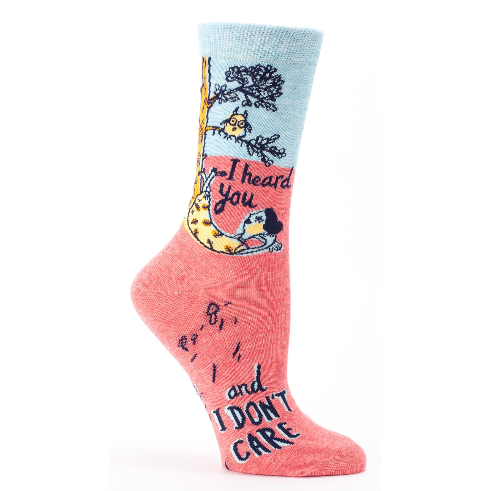 Blue Q I Heard You and I Don't Care W - Crew Socks