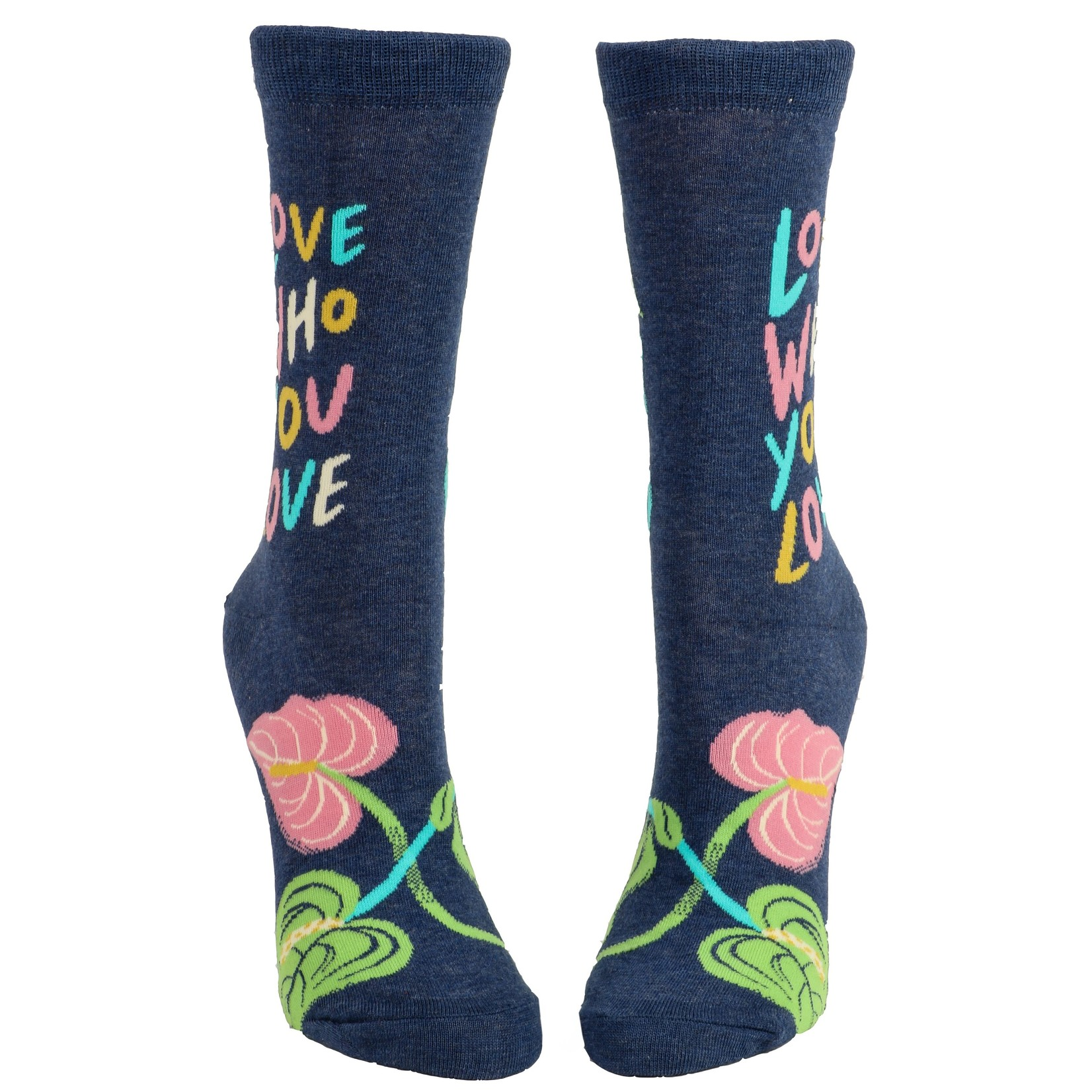 Blue Q Love Who You Love W - Crew Socks