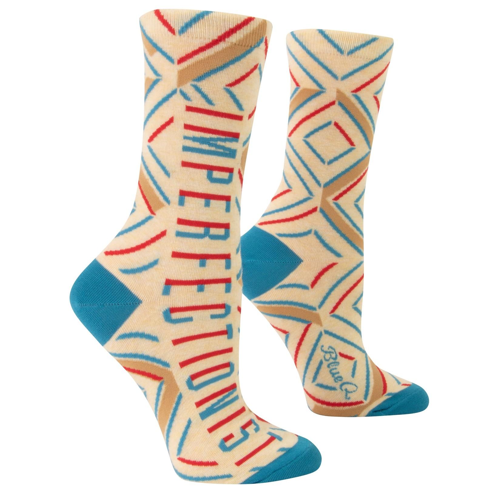 Blue Q Imperfectionist W - Crew Socks