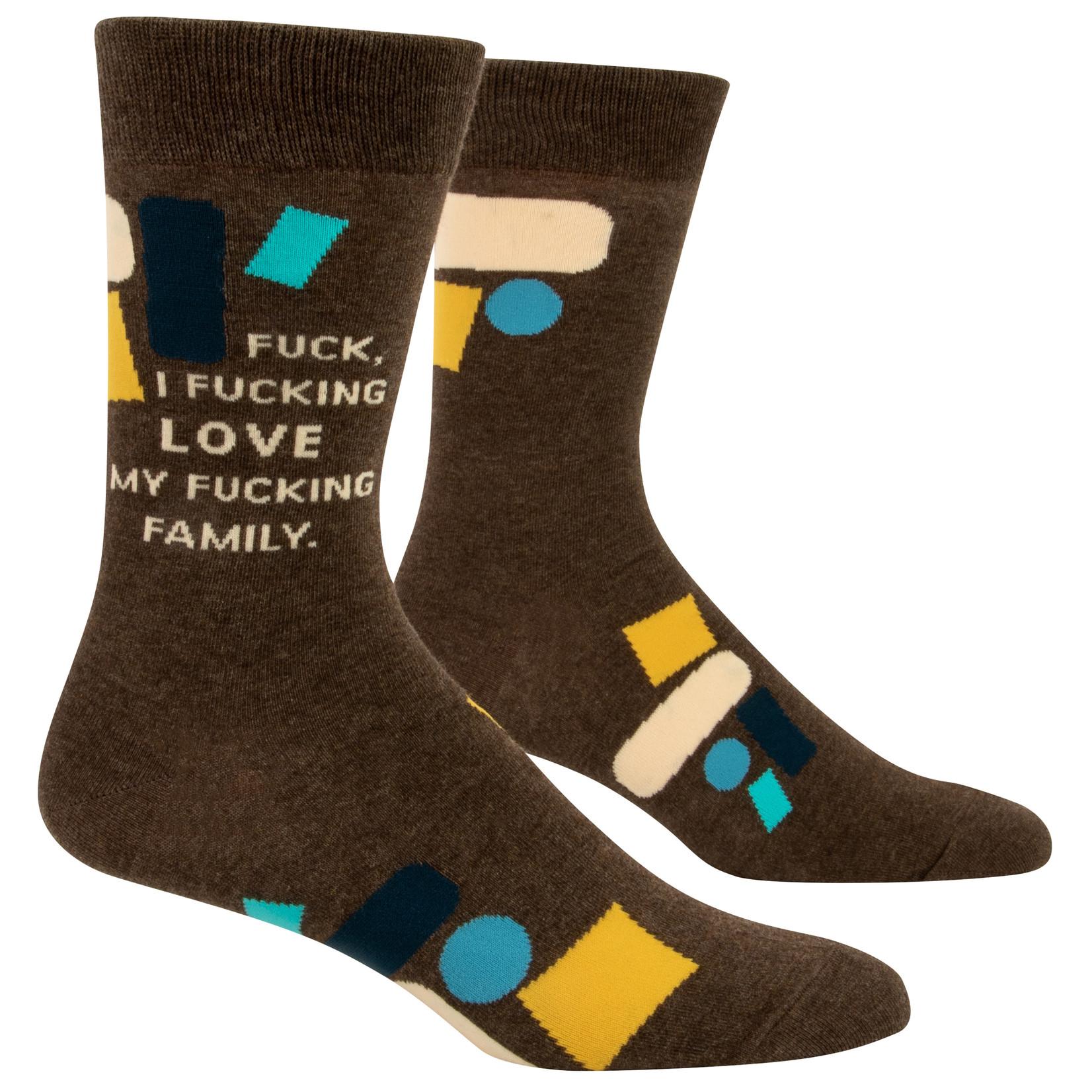 Blue Q F*ck I Love My Fam M - Crew Socks
