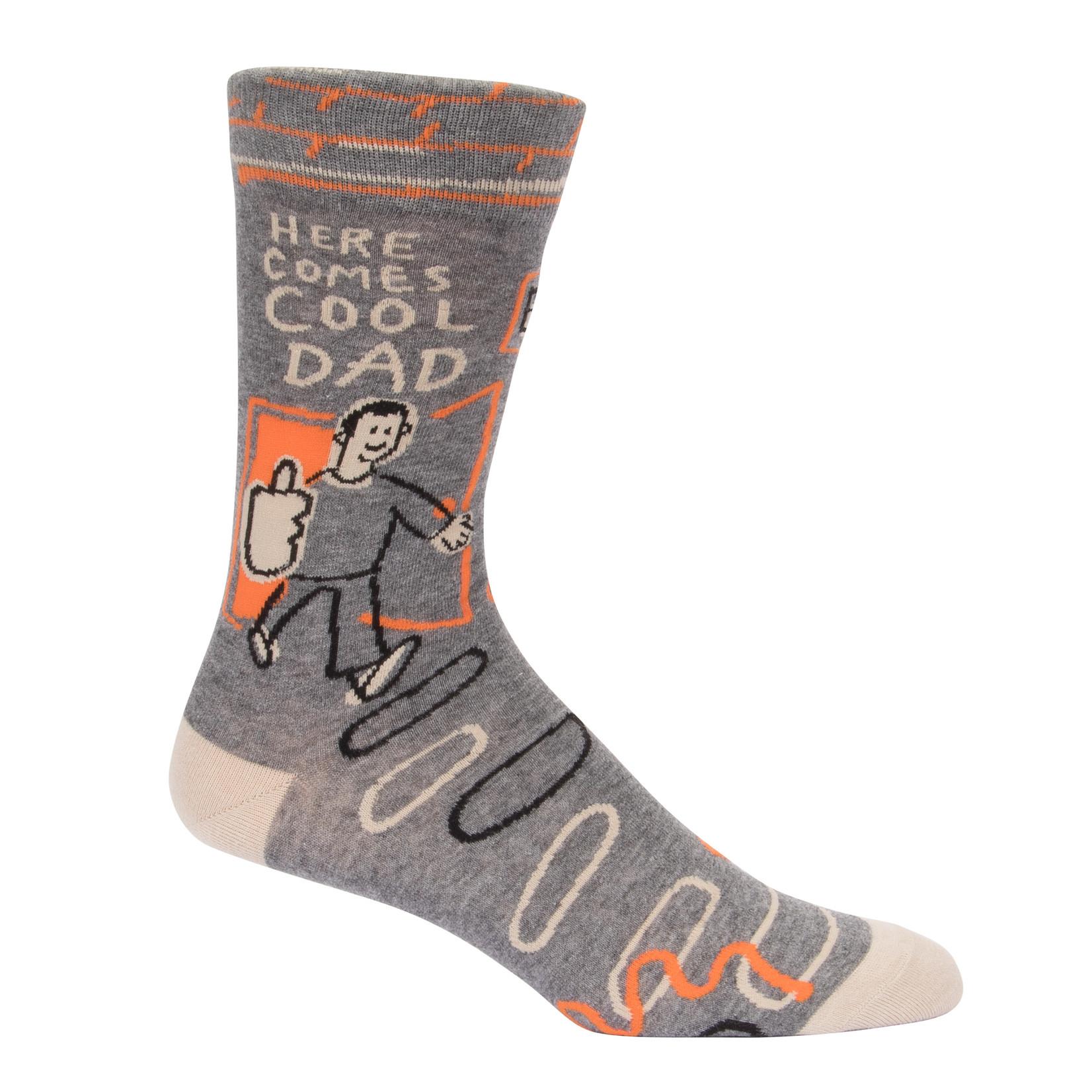 Blue Q Here Comes Cool Dad M - Crew Socks