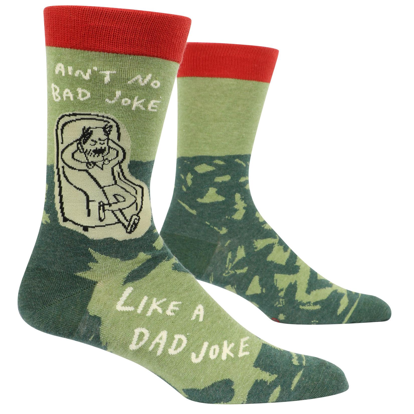 Blue Q Dad Joke M - Crew Socks