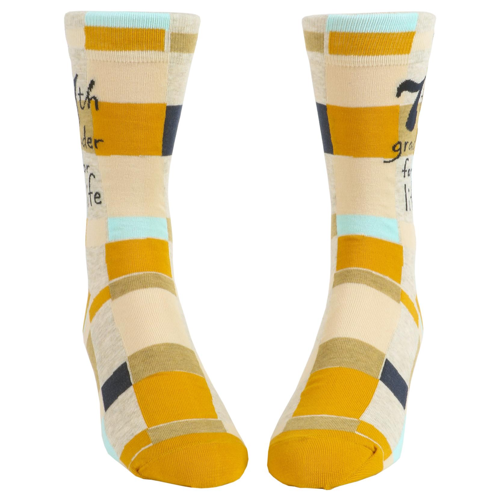 Blue Q 7th Grader for Life M - Crew Socks