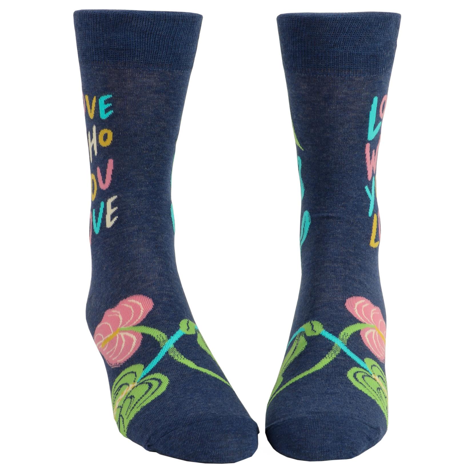 Blue Q Love Who You Love M - Crew Socks