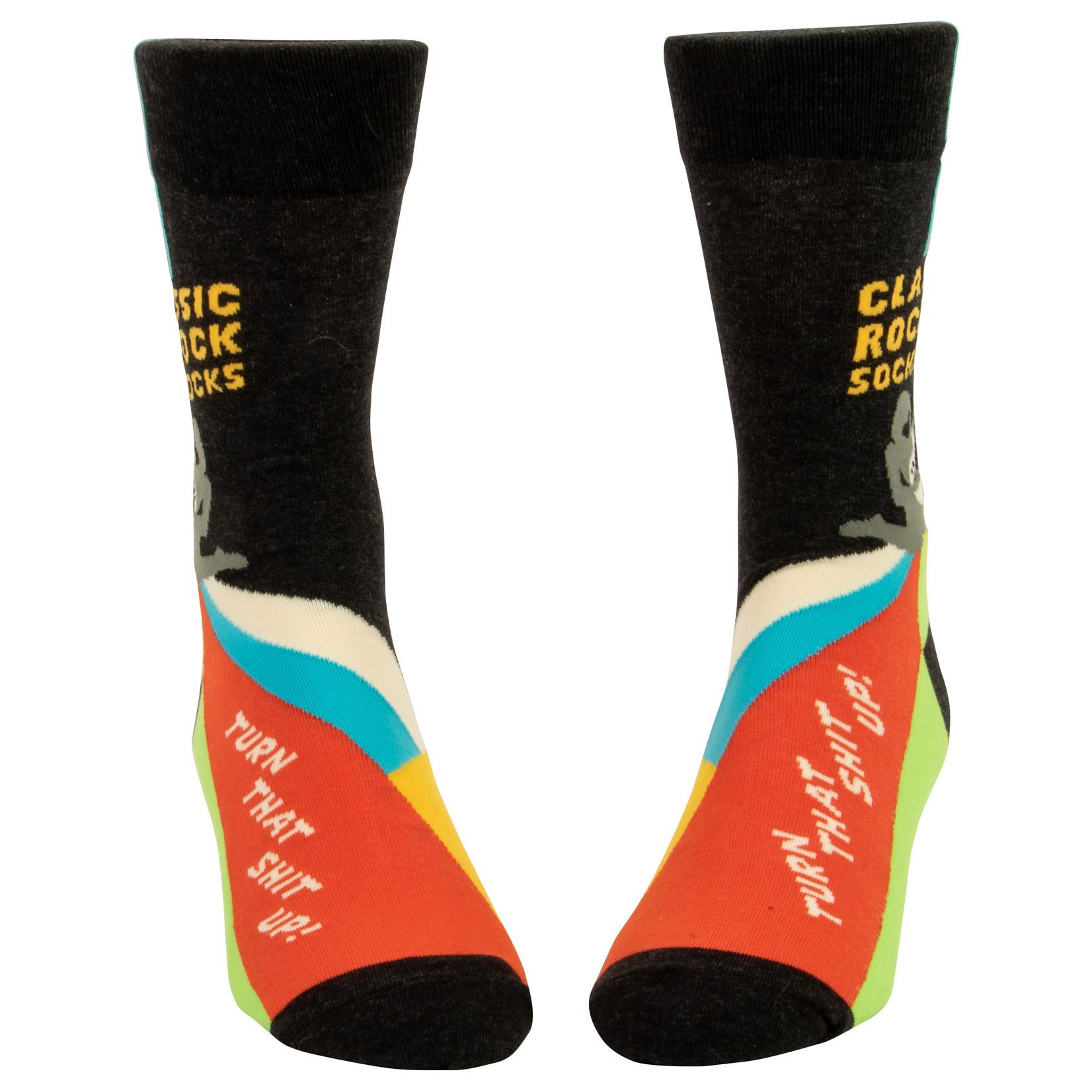 Blue Q Classic Rock Socks M - Crew Sock