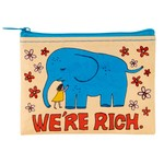 Blue Q We're Rich Coin Purse