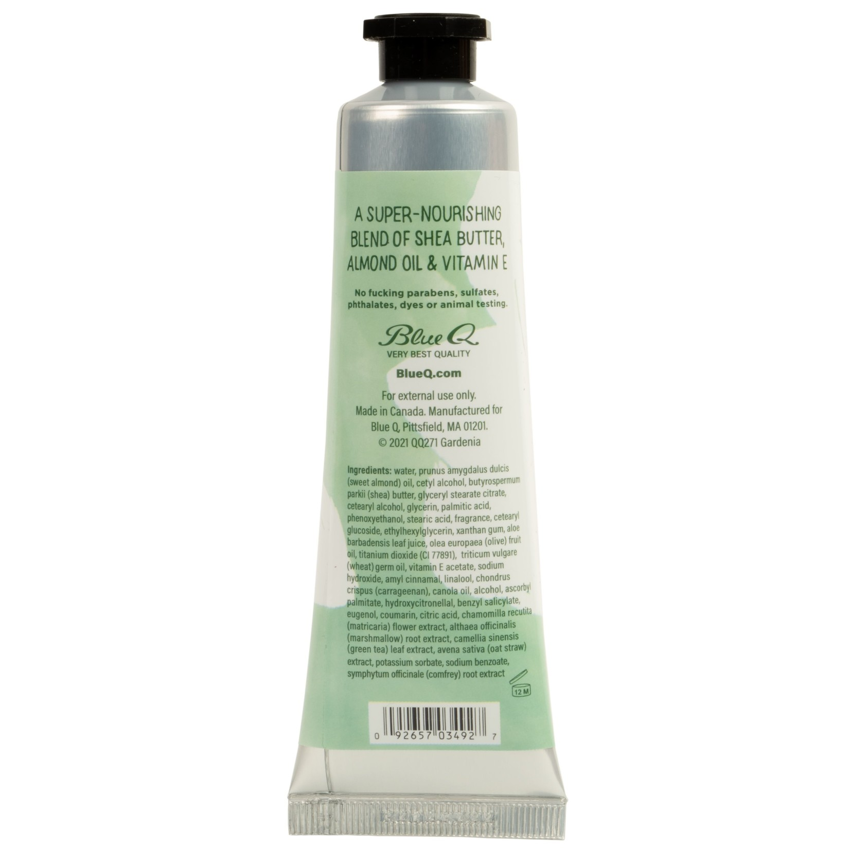 Blue Q Delicate F*cking Flower Natural Hand Cream - Gardenia & A Bit Of Sandalwood