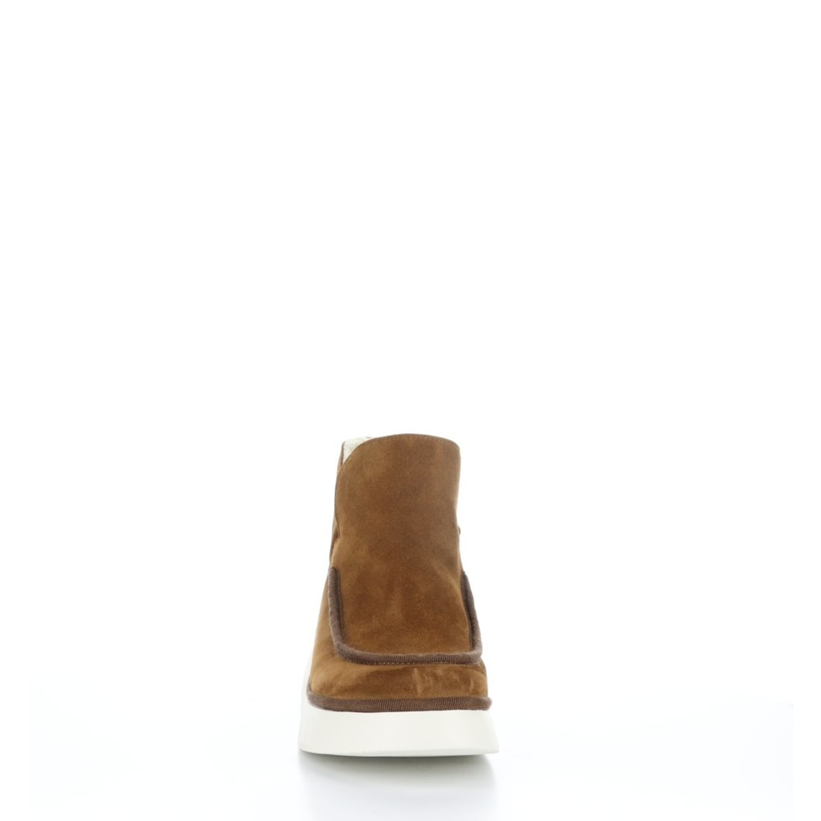 Fly London COZE348fly Cognac Round Toe Ankle Boots