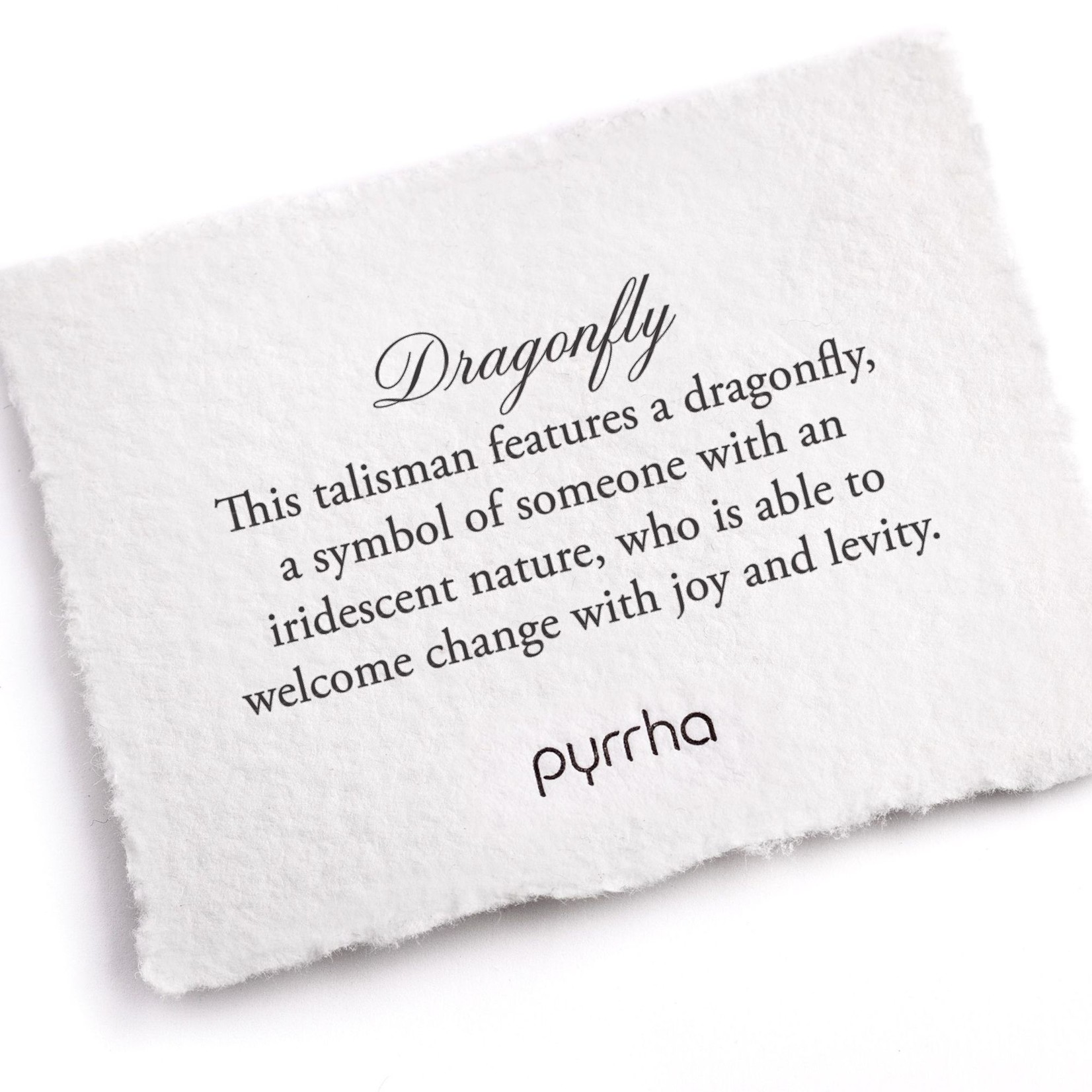 Pyrrha Dragonfly Signature Talisman