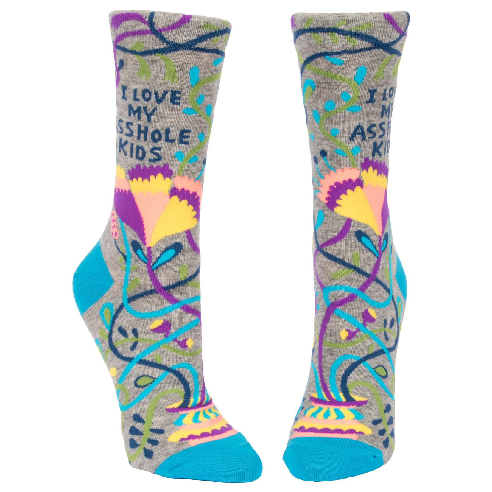 Blue Q Love My Asshole Kids W - Crew Socks