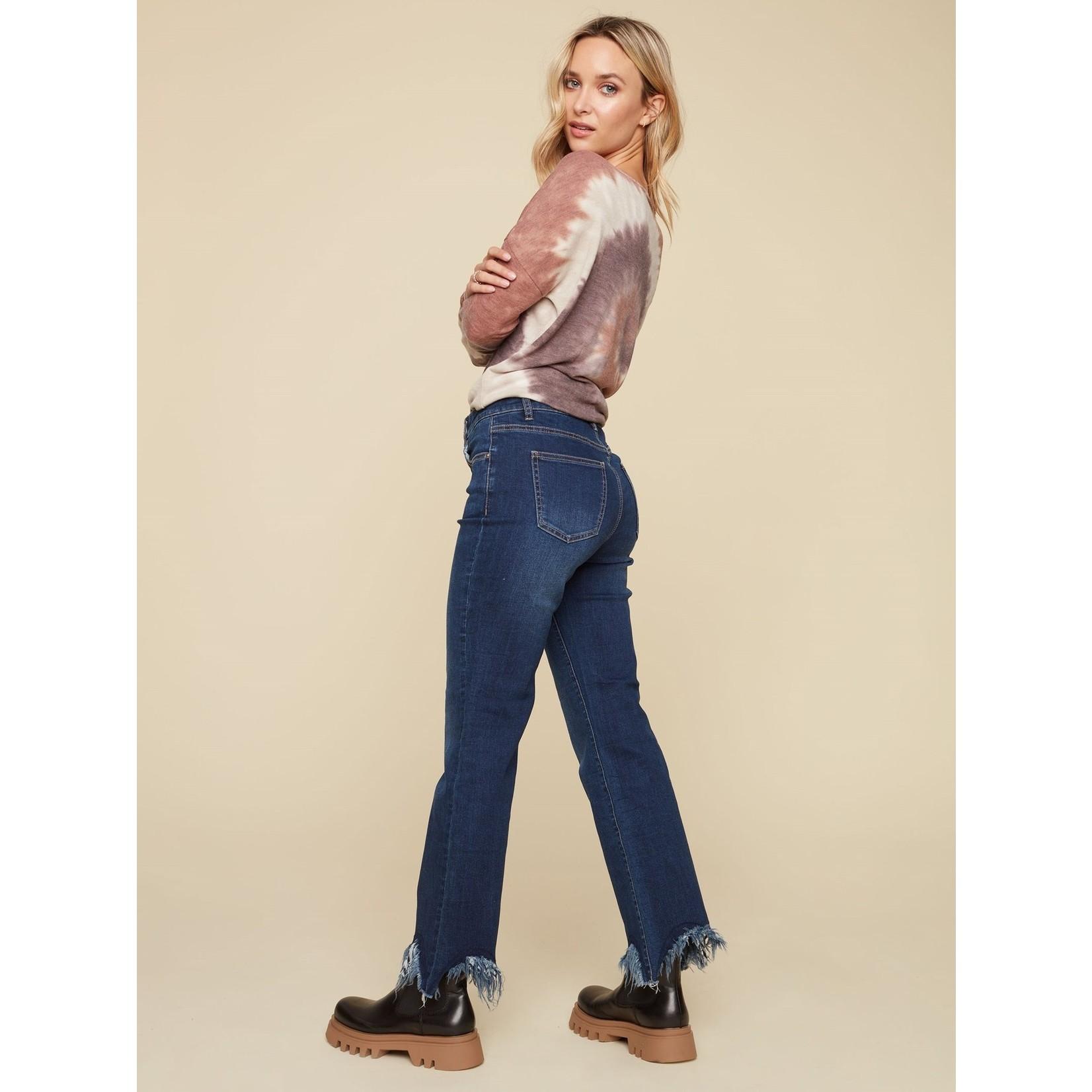 Charlie B Fringed Straight Leg Jean