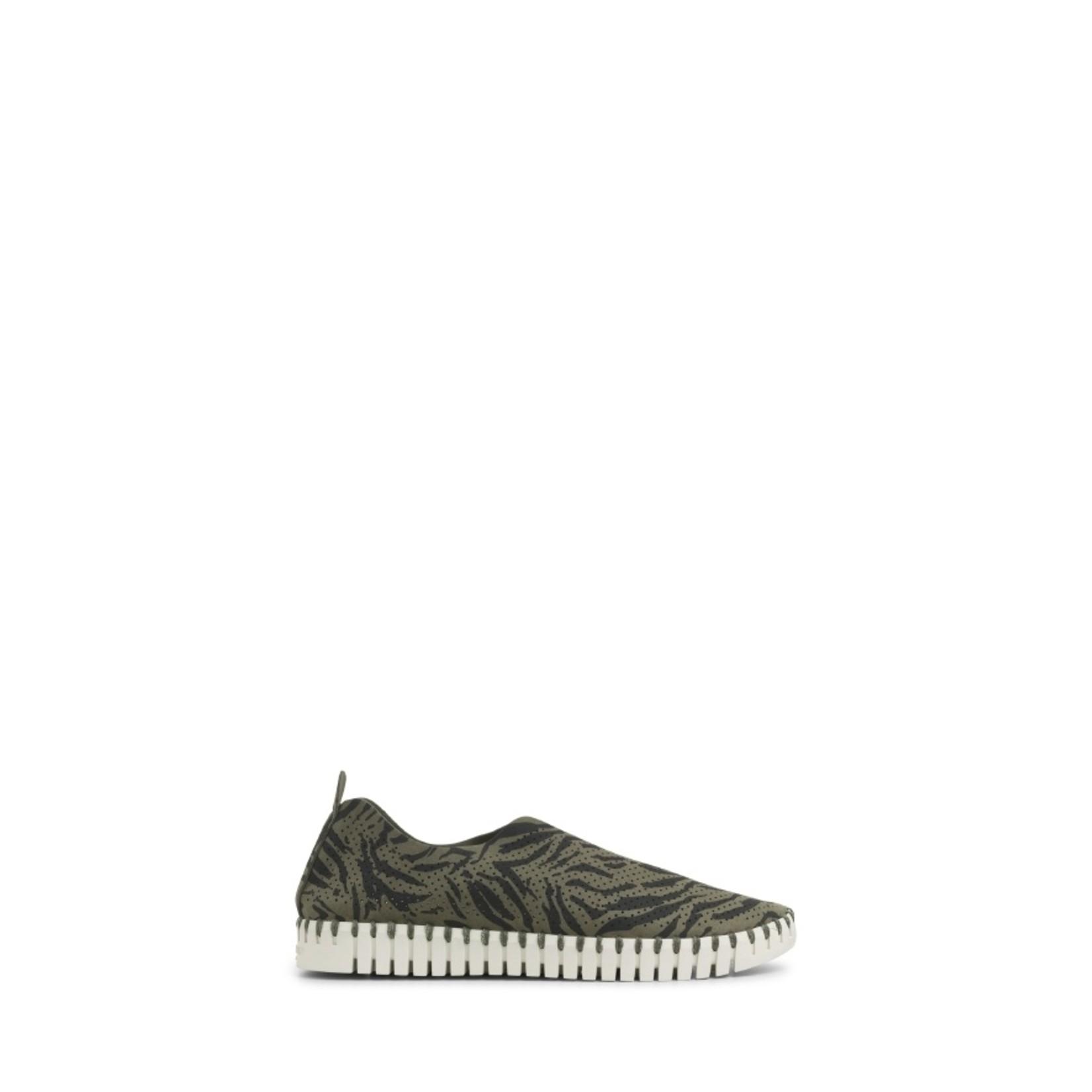Ilse Jacobsen Zebra Tulip Perforated Slip-On Sneaker