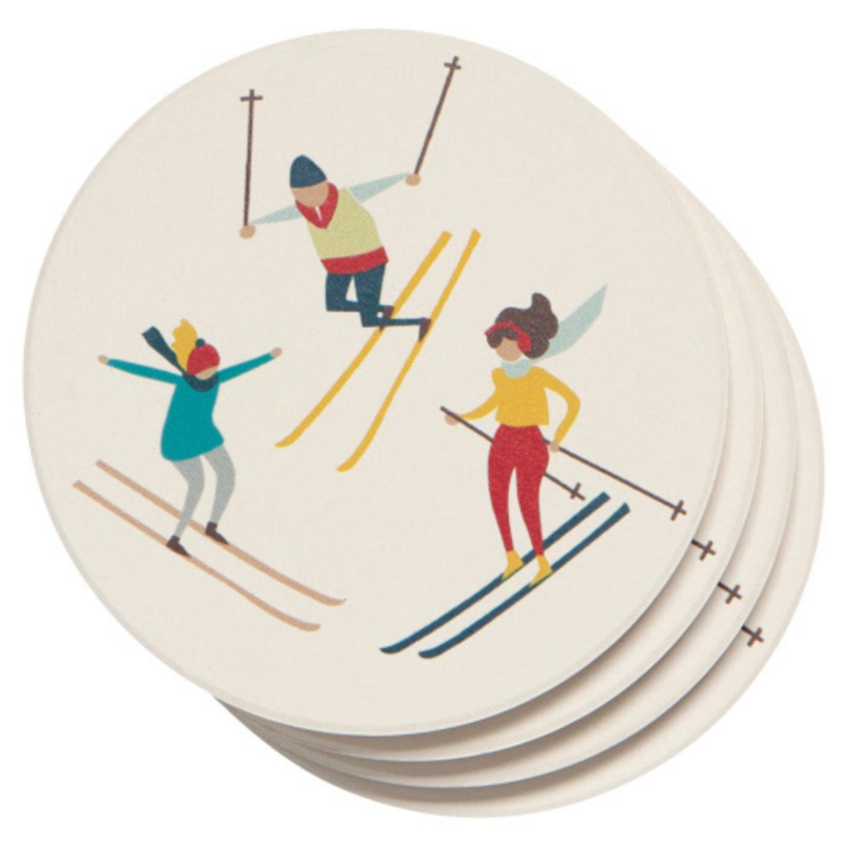 Now Designs Holiday Soak Up Coaster Set