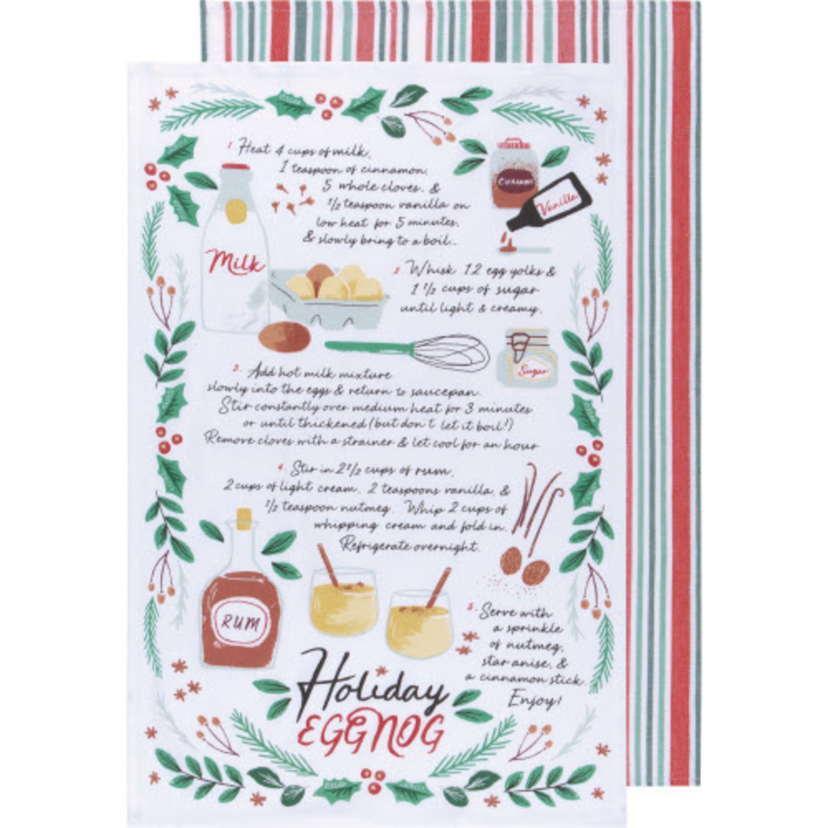 Now Designs Holiday Printed & Woven Dishtowel Set