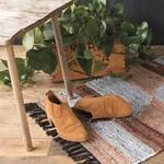 Heirloom Leather Chindi Rug