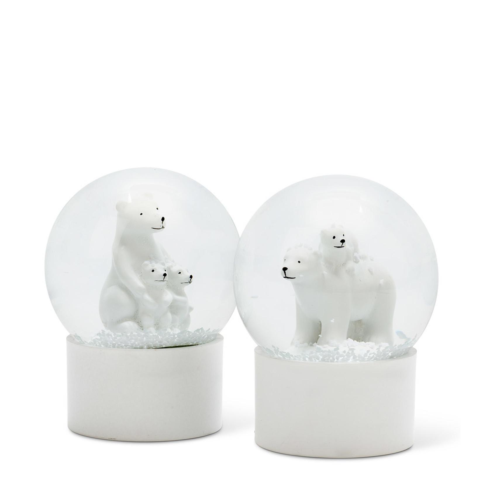 Abbott Polar Bear Snow Globe