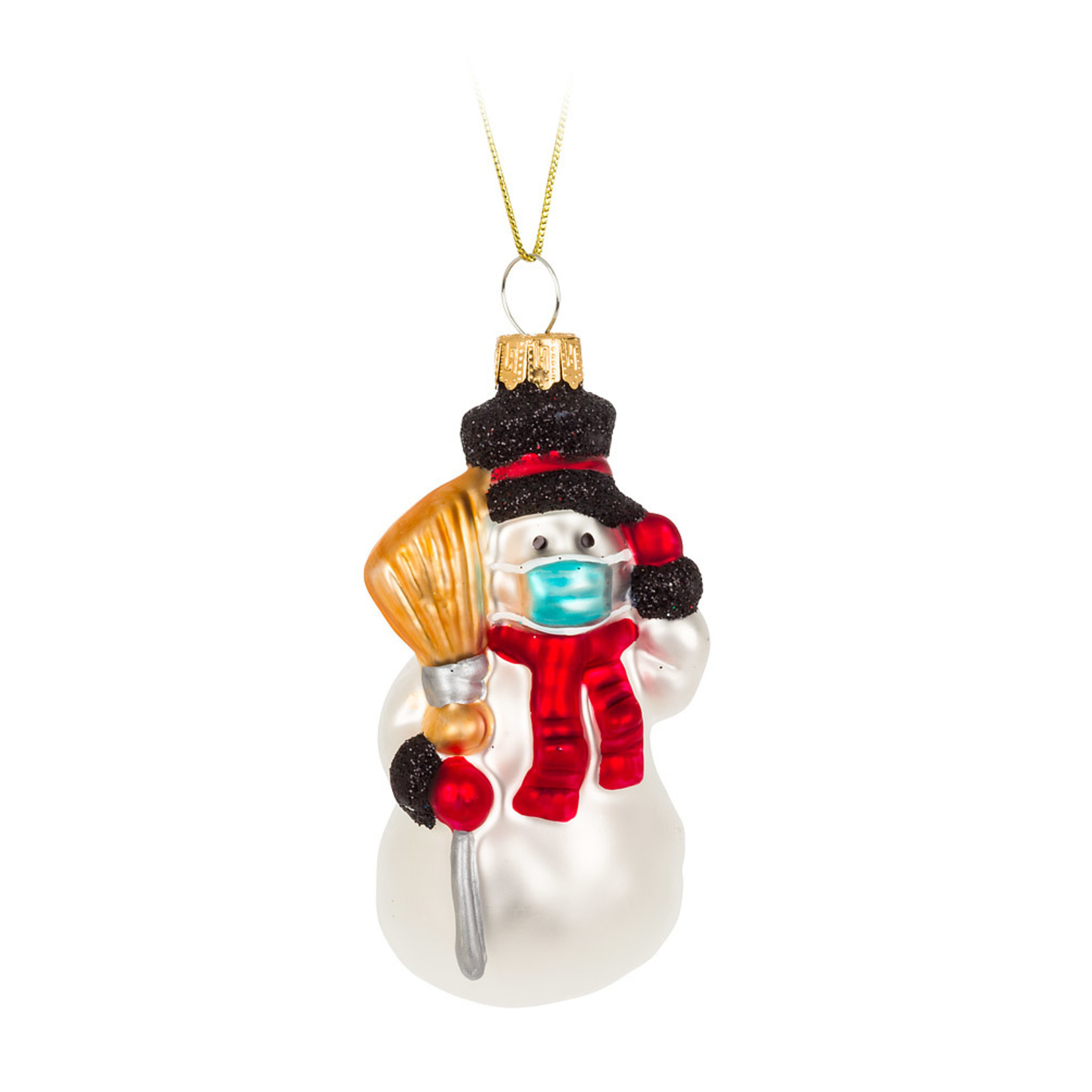 Abbott Masked Snowman Ornament