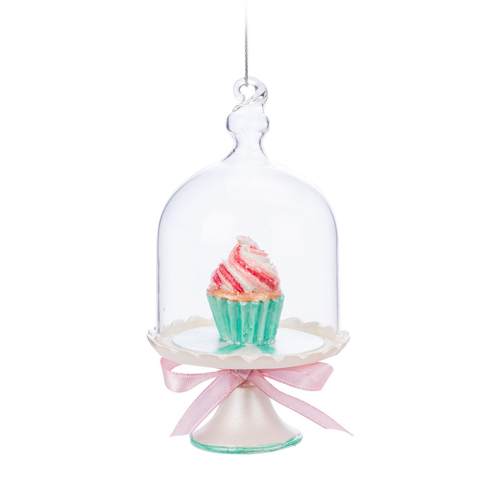 Abbott Glass Dome Cupcake Ornament