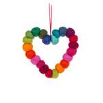 Abbott Felted Rainbow Pompom Ornament