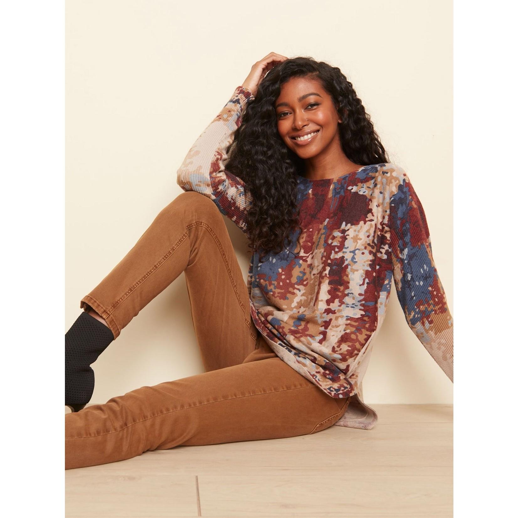 Charlie B Printed Knit Sweater