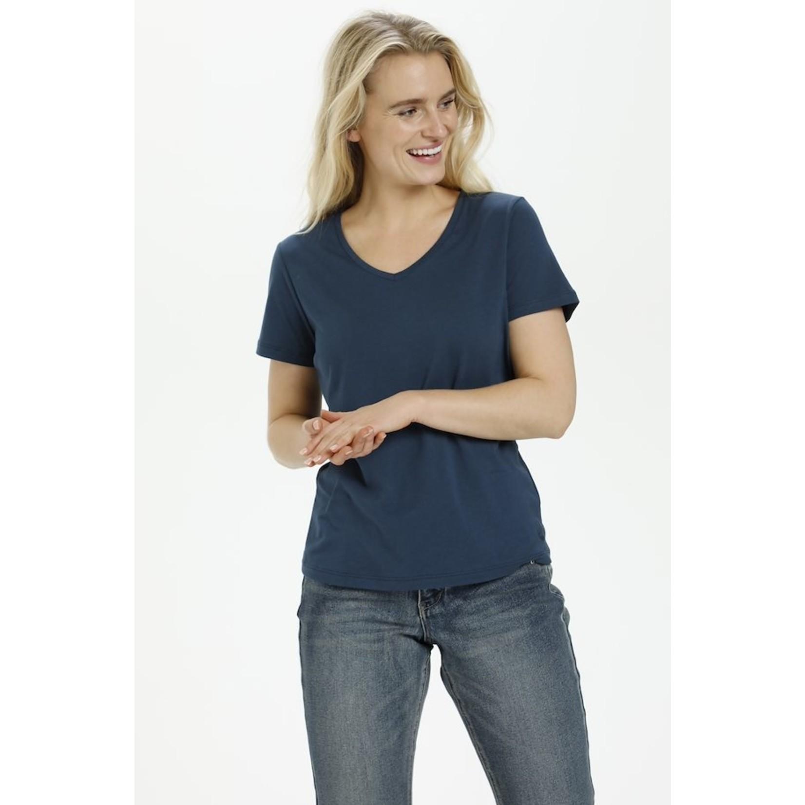 Cream Naia V-Neck T-Shirt