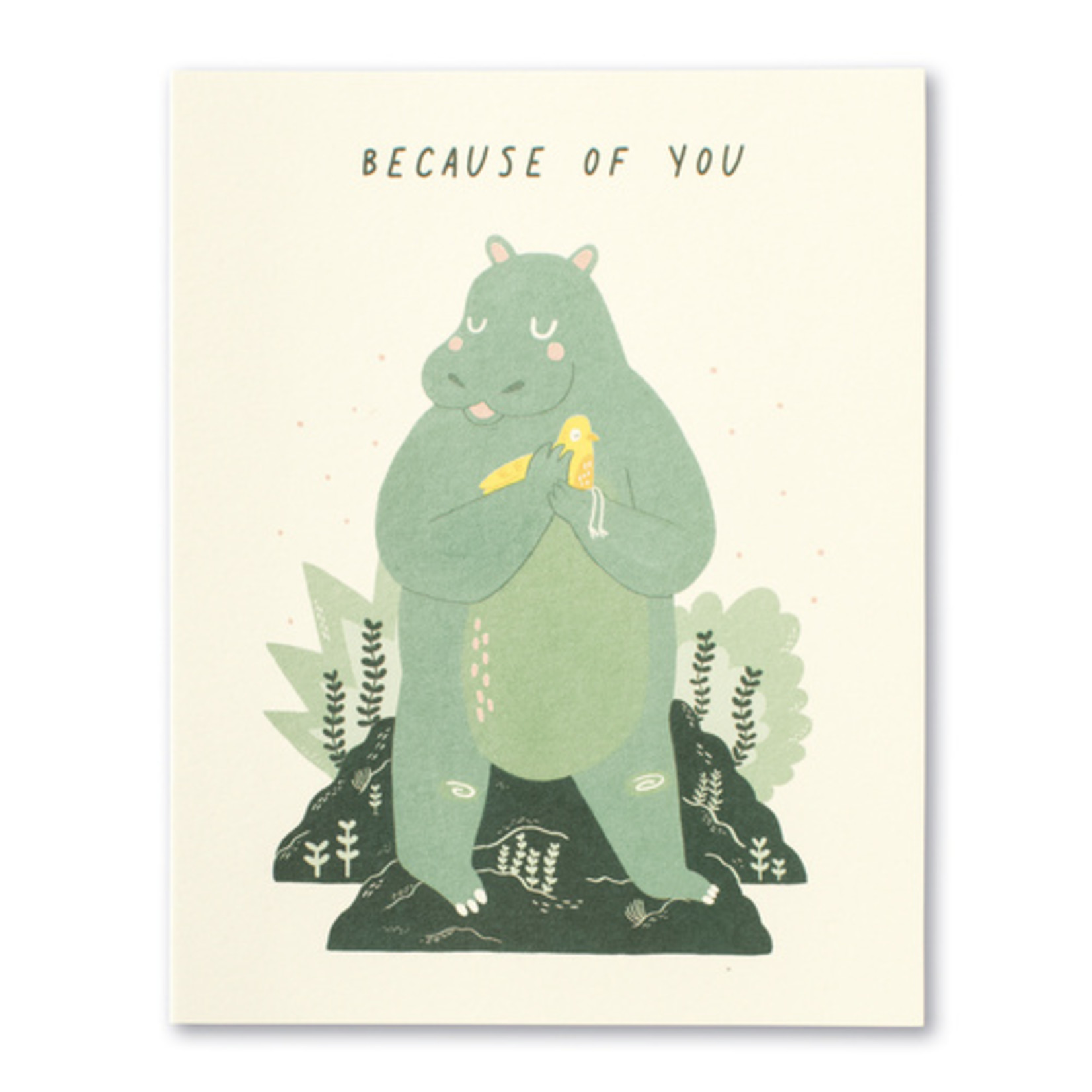 Love Muchly Because of You Hippo