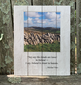 "PLAQUES & GIFTS ""CLOUDS ARE LOWER IN IRELAND"" PALLET ART"