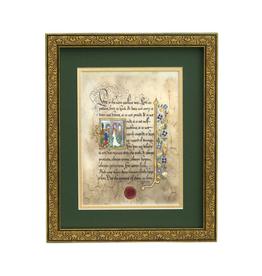 """PLAQUES & GIFTS CELTIC MANUSCRIPT 8x10 PLAQUE - """"LOVE (1st Corinth)"""""""