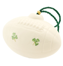 ORNAMENTS BELLEEK AMERICAN FOOTBALL ORNAMENT