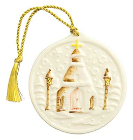 ORNAMENTS BELLEEK SILENT NIGHT ORNAMENT